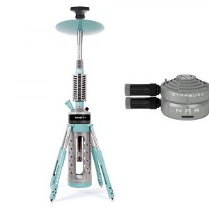 Starbuzz Carbine Shisha Kit 2.0 with NAR Heat Management Head - White Blue